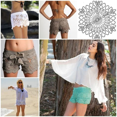 crochet lace beach shorts  pattern  guide