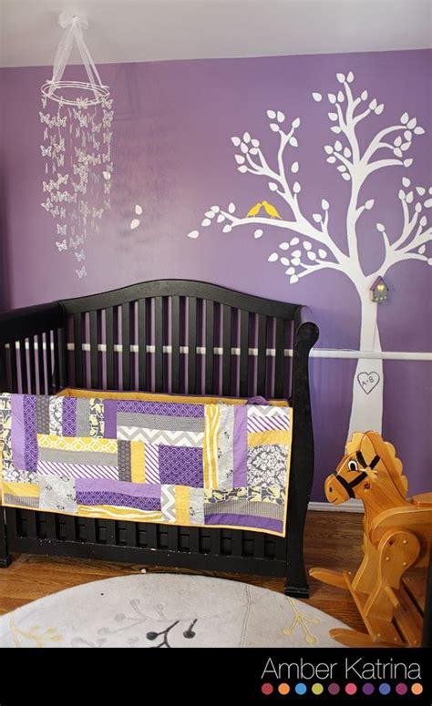 Purple Baby Room by Baby S Nursery Room Purple Grey And Yellow Birds Nursery Baby