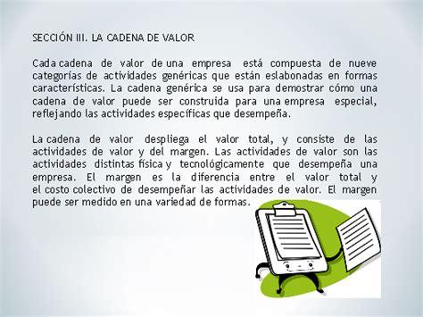 cadena de valor caracteristicas modelo de competitividad global de la industria de piel de