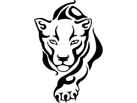 panther drawing outline clip art library