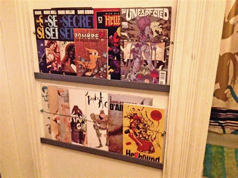 easy comic book  magazine shelves  diy projects