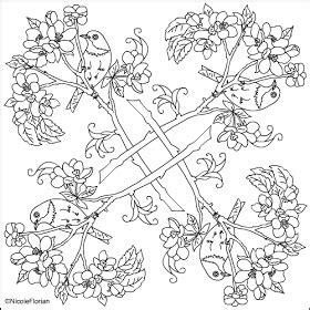 apple coloring pages for adults nicole s free coloring pages apple blossom mandala