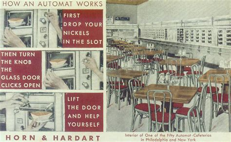 Auto Mat by Horn Hardart Automats Redefining Lunchtime Dining On A