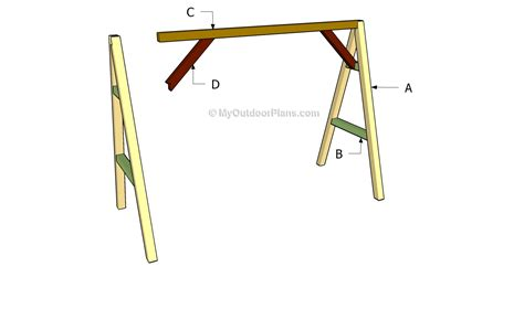 how to build a frame for a swing outdoor swing frame plans images