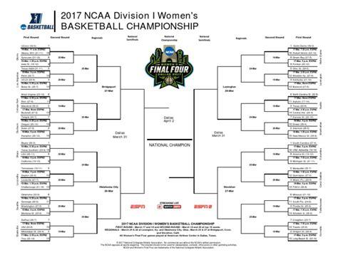 2017 ncaa basketball tournament ncaa women s basketball tournament 2017 bracket