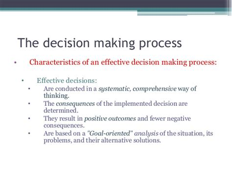 Decision Process Paper - in a essay list and discuss the eight steps in the