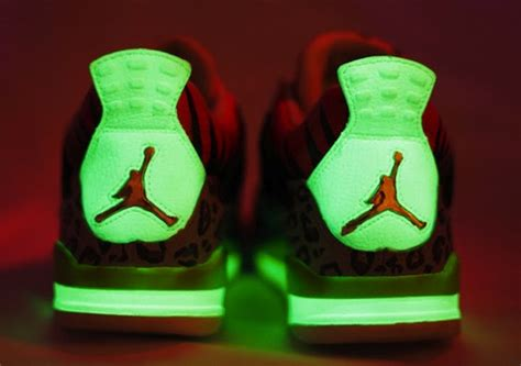 glow in the paint for shoes the high air iv custom shoes by smoothtip