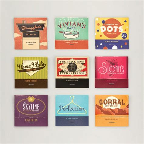 exemplos de embalagem vintage