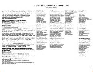 Prayer List Template by Prayer List Template Prayer List Template Survey Words