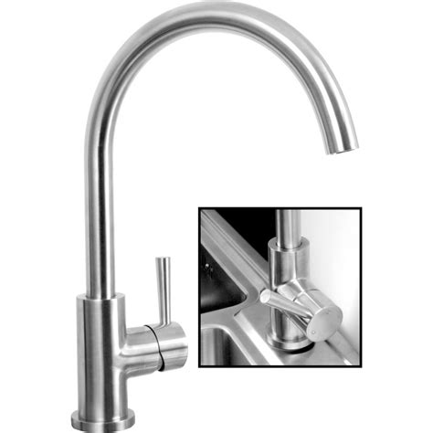 mixer tap for kitchen sink alva stainless steel kitchen sink mixer tap toolstation