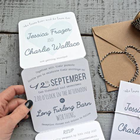 Tri Fold Invitation Paper - tri fold wedding invitation on white by paper and