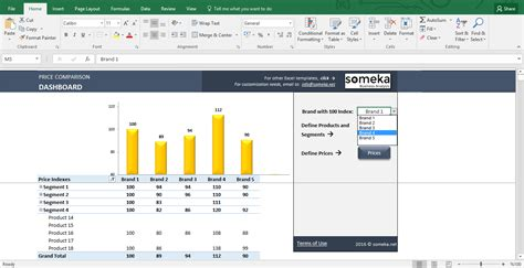 price comparison and analysis excel template for small
