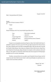berbage info lam contoh surat permohonan dispensasi
