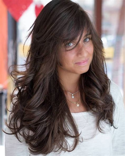 bangs to you for in your 40s 40 side swept bangs to sweep you off your feet brown