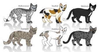 warrior cat adoptables closed by toywitch on deviantart