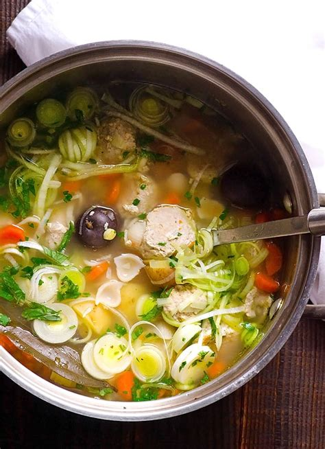 healthy turkey soup recipe turkey meatball soup ifoodreal healthy family recipes
