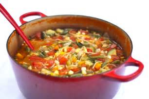 hearty healthy late summer minestrone simple bites