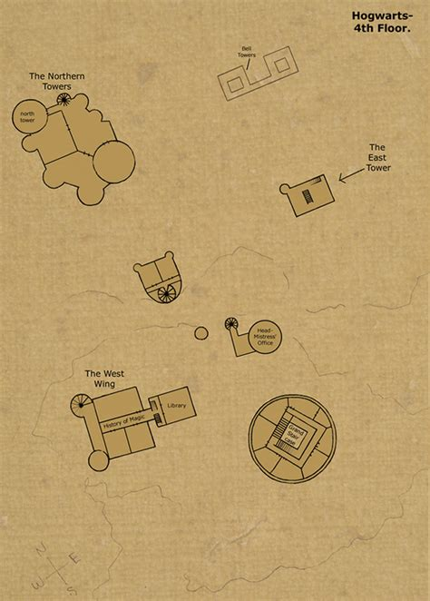 Map Of Hogwarts Castle All Floors by The Setting
