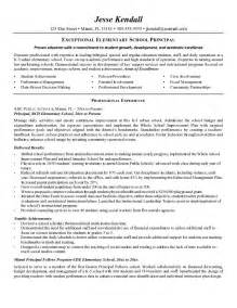 Principal Resume Samples Example Elementary School Principal Resume Free Sample