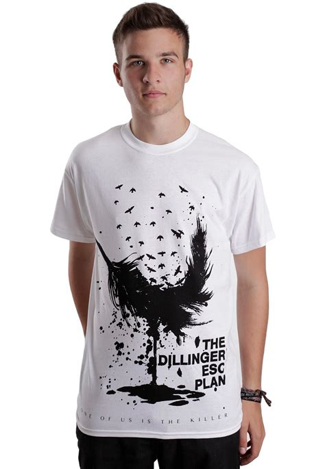 The Dillinger Escape Plan Tshirt the dillinger escape plan feather white t shirt impericon worldwide