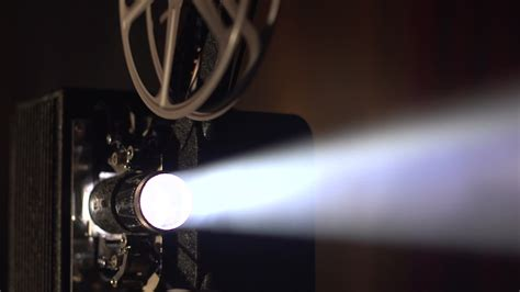 Film Projector Lens And Light Beam Stock Video 24706786 Projector Lights