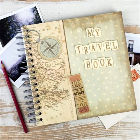 travel picture book personalised my travel book keepsake journal by the
