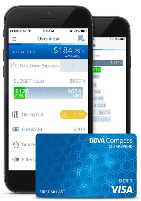 compass credit bbva compass prepaid clearspend visa 174 card bankingninja