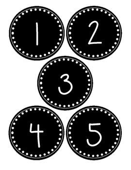 printable number labels black and white number labels for numbers 1 30 great for