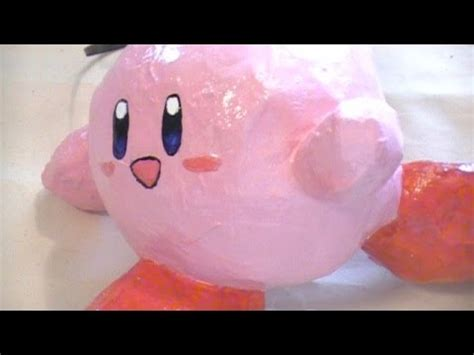 Cool Things To Make Out Of Paper Mache - how to make a cool paper mache kirby ornament