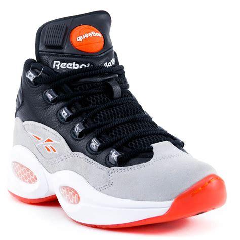 reebok pumps sneakers reebok question mid black white flux allen iverson