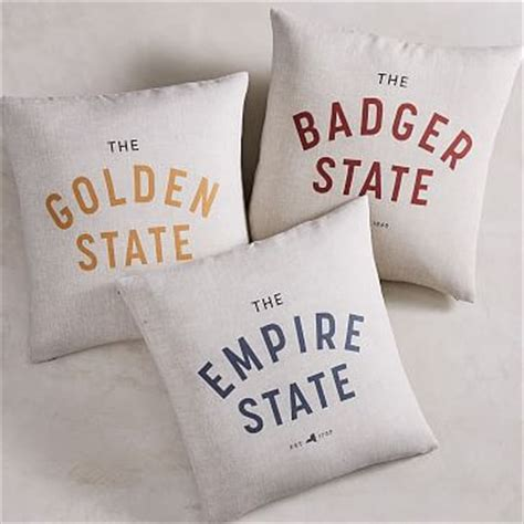 state slogan pillow covers west elm