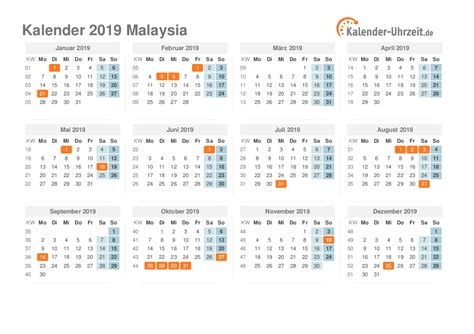 feiertage  malaysia kalender uebersicht