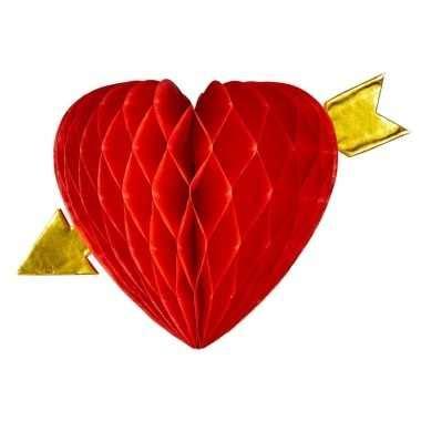 decoratie hart decoratie rood hart met pijl 13 cm kado valentijn kado nl