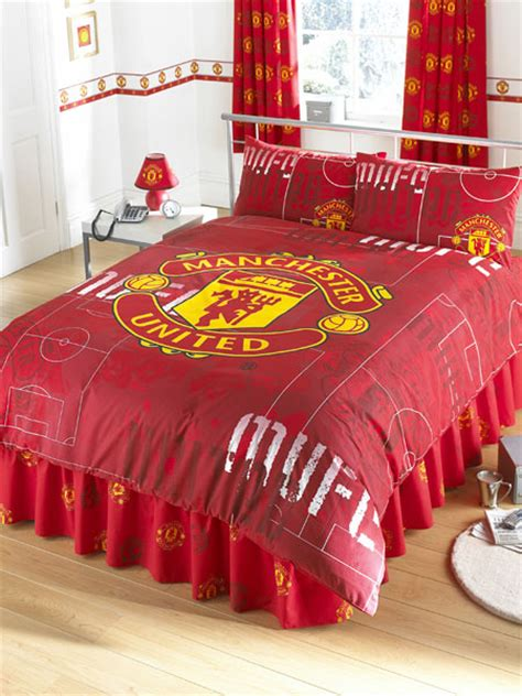 manchester united bedding manchester united fc fans double duvet cover and