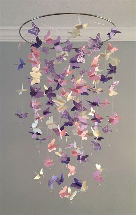 kronleuchter rosa kinderzimmer schmetterling kronleuchter mobile in lila und rosa meist