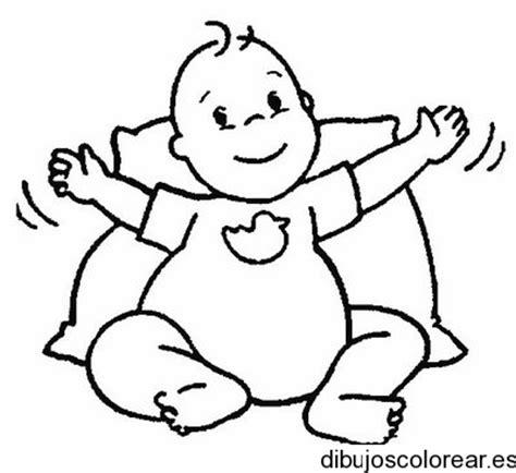imagenes de bebes faciles para dibujar dibujo de un beb 233 sentado