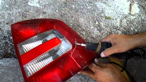 how to repair a damaged tail light at no cost youtube