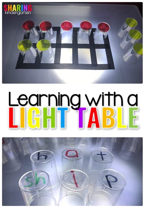 Learning Table With Light learning with a light table kindergarten