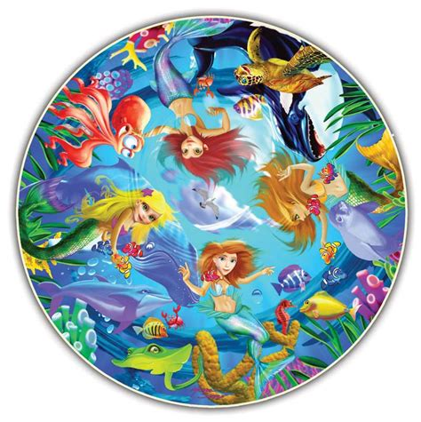 Mermaids Round Table Puzzle Jigsaw Puzzle Circular Jigsaw Puzzles