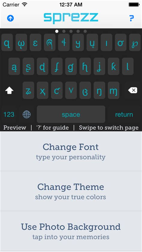 keyboard themes ios sprezz custom keyboard themes and fonts app ranking and
