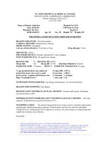 Echocardiogram Report Template Stress Echocardiography Report Sample