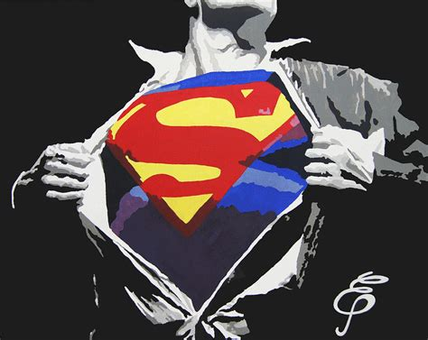 superman painting free superman painting by erik pinto
