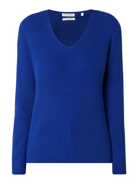 christian berg women pullover met  hals  blauwturkoois  kopen  gratis