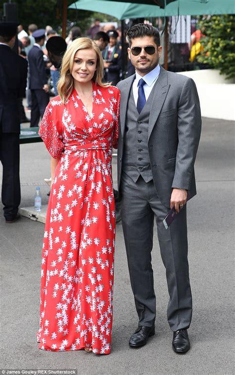 katherine jenkins and husband andrew levitas enjoy first katherine jenkins attends wimbledon with husband andrew