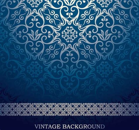 european pattern background blue european pattern vector background free vector in