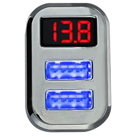 car battery charger voltage duo usb smart charger car battery voltage display
