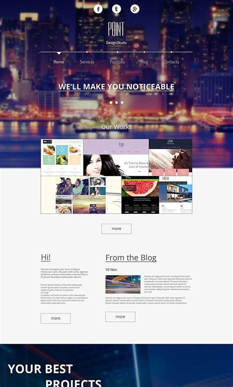 26 Best Free Bootstrap Html5 Website Templates February 2015 Edition Designing Coherent Template