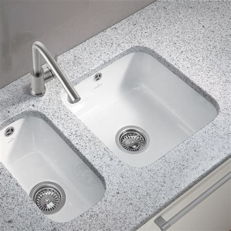 Ceramic Undermount Kitchen Sinks Villeroy And Boch Cisterna 50 Undermount Ceramic Kitchen Sink