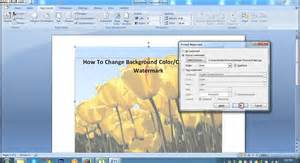 word background color how to change background color or printed watermark in ms