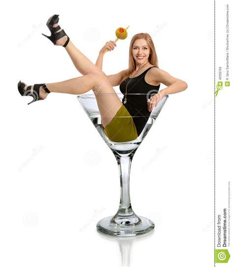 martini woman woman in martini glass stock photo image 40330769